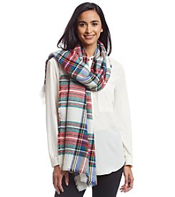 Betsey Johnson® Plaid Blanket Wrap