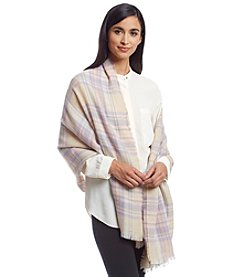 Betsey Johnson® Plaid Blanket Wrap