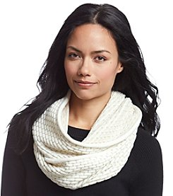 Calvin Klein Metallic Grid Loop Scarf