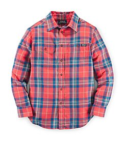 Ralph Lauren Childrenswear Boys' 8-20 Twill Plaid Shirt
