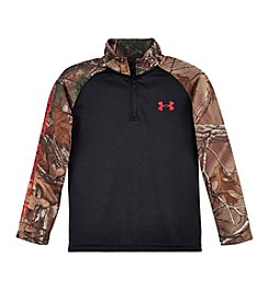 Under Armour® Boys' 2T-7 Real Tree Quarter Zip Pullover
