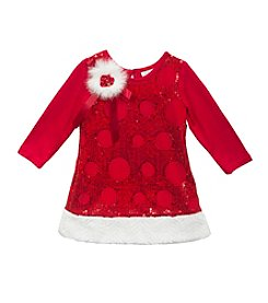 Rare Editions® Baby Girls' 12-24M Circular Sequin Glitter Dress