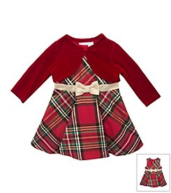 Rare Editions® Baby Girls' 6-24M Plaid Dress With Cardigan