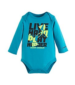 Under Armour® Baby Boys Newborn-12M Live Hard Play Harder Bodysuit