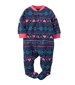 Carter's® Baby Girls' Newborn-3M Fair Isle Heart Footie