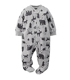 Carter's® Baby Newborn-9M Boys Wildlife Print Footie