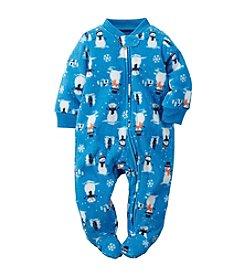 Carter's® Baby Boys Newborn-3M Snowman Print Footie