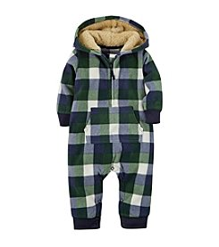 Carter's® Baby Boys Newborn-24M Hooded Microfleece Jumpsuit
