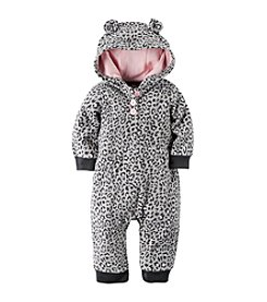 Carter's® Baby Girls' Newborn-24M Sassy Leopard Print Hoodie Coverall