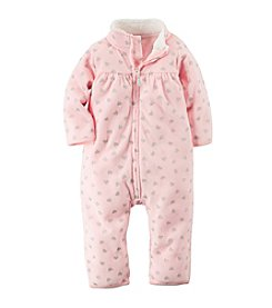 Carter's® Baby Girls' Newborn-24M Zip-Up Glitter Print Jumpsuit