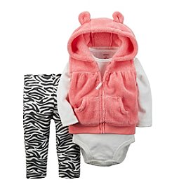Carter's® Baby Girls' 3M-24M Zebra Print Leggings Set
