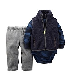 Carter's® Baby Boys 3-24M 3-Piece Camo Bodysuit And Sherpa Vest Set