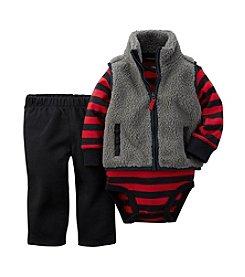 Carter's® Baby Boys 3-24M Fuzzy Sherpa Vest Set