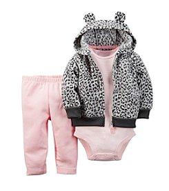Carter's® Baby Girls' 3-24M Leopard Print Hoodie Set