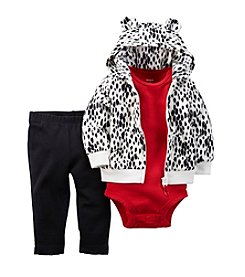 Carter's® Baby Girls' 3-24M Animal Print Hoodie Set