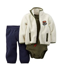 Carter's® Baby Boys 3-24M 3-Piece Sherpa Cardigan Set
