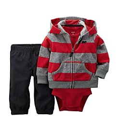 Carter's® Baby Boys Newborn-24M Rugby Stripe Hoodie Set