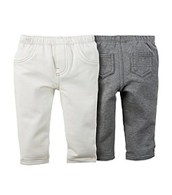 Carter's® Baby Girls' 2-Pack Stretch French Terry Pants