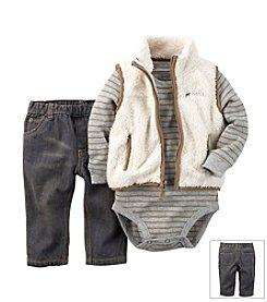 Carter's® Baby Boys Newborn-24M Mommy's Little Cub Vest Set