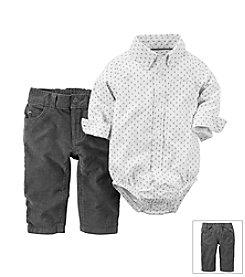 Carter's® Baby Boys 2-Piece Oxford Bodysuit & Corduroys Set