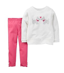 Carter's® Baby Girls' 3-24M Scottie Love Pant Set