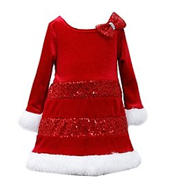 Bonnie Jean® Girls' 2T-4T Mrs. Claus Dress