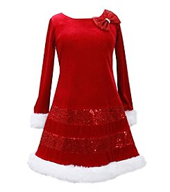 Bonnie Jean® Girls' 4-16 Mrs. Claus Dress
