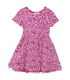 Rare Editions® Girls' 4-6X Rose Pattern Dress