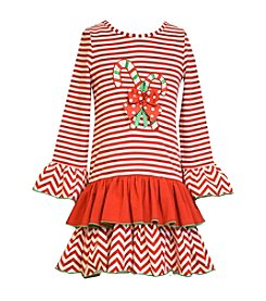 Bonnie Jean® Girls' 2T-6X Candy Cane Applique Dress