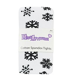 Miss Attitude Girls' 2T-14 Snowflake Pattern Tights