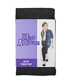 Miss Attitude Girls' 4-16 Lurex Leggings
