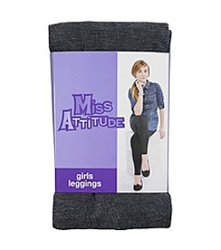 Miss Attitude Girls' 4-16 Heather Leggings