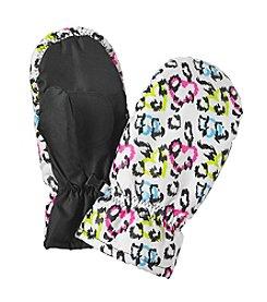 Mambo® Girls' Leopard Print Mittens