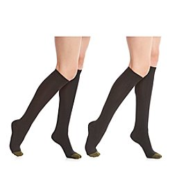 GOLD TOE® 2-Pack Ultrasoft Knee High Socks