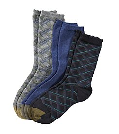 GOLD TOE® 3 Pack Diagonal Stripe Socks