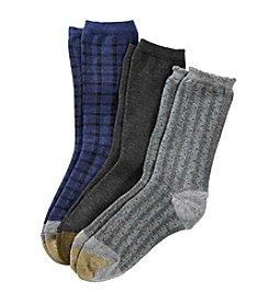 GOLD TOE® 3 Pack Buffalo Check Socks