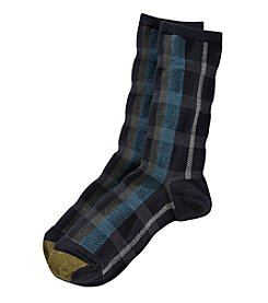 GOLD TOE® Plaid Crew Socks