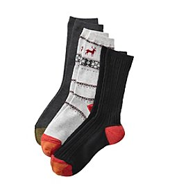 GOLD TOE® 3 Pack Nordic Crew Socks