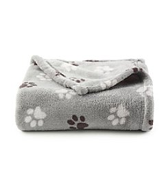 John Bartlett Pet Black Paw Micro Cozy Throw