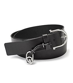 Michael Kors® Logo Padlock Charm Leather Belt
