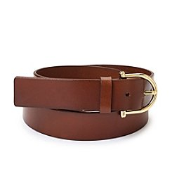 Michael Kors Logo® Padlock Charm Leather Belt