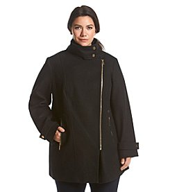 MICHAEL Michael Kors® Plus Size Asymmetrical Zip Stand Collar Coat