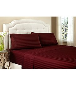 Welspun Crowning Touch™ Egyptian Cotton Damask Stripe 500-Thread Count Sheet Set