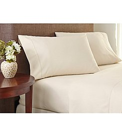 Welspun Crowning Touch™ Cotton Naturals Damask Stripe Sheet Set