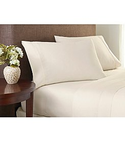 Welspun Crowning Touch™ Cotton Naturals Solid Sheet Set