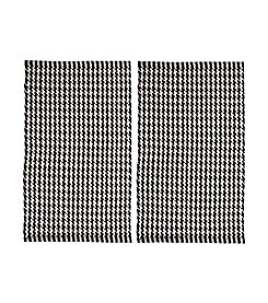 Chesapeake Black Portland Houndstooth 2-pc. Accent Rug Set
