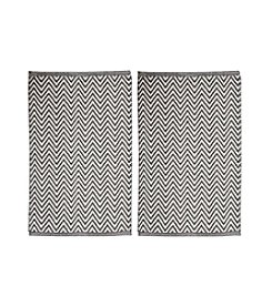 Chesapeake Grey Portland Chevron 2-pc. Accent Rug Set