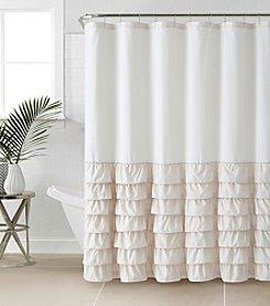 Victoria Classics Melanie Ruffle Shower Curtain