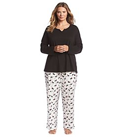 Intimate Essentials® Plus Size Cotton Pajama Set