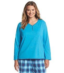 KN Karen Neuburger Plus Size Henley Pajama Top